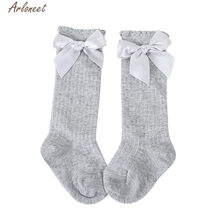 ARLONEET Socks Baby Girl Boy Soft Cotton Blend shoes Kids Cartoon Big Bow Knee NEWEST Warm Socks For Autumn And Winter(China)