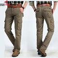 Nueva NIANJEEP hombres Pantalones Cargo multibolsillos casuales Pantalones Holgados Pantalones de Algodón Para Hombres de Camuflaje Militar Táctico pant