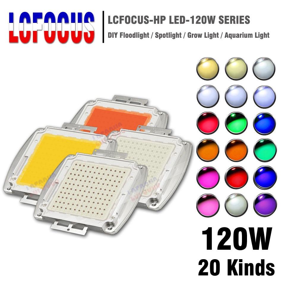 Haute puissance LED puce COB 120 W chaud blanc froid rouge bleu vert UVA spectre complet 660nm 440nm cultiver la lumière pour 120 watts perles de lumière