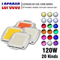 High Power LED COB Chip 120W Warm Cool White Red Blue Green UVA Full Spectrum 660nm 440nm Grow Light For 120 watt Light Beads