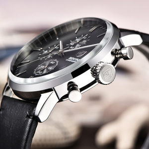 Image 4 - BENYAR модные спортивные мужские часы с хронографом Лидирующий бренд Роскошные Кварцевые часы водонепроницаемые часы мужские часы relogio Masculino
