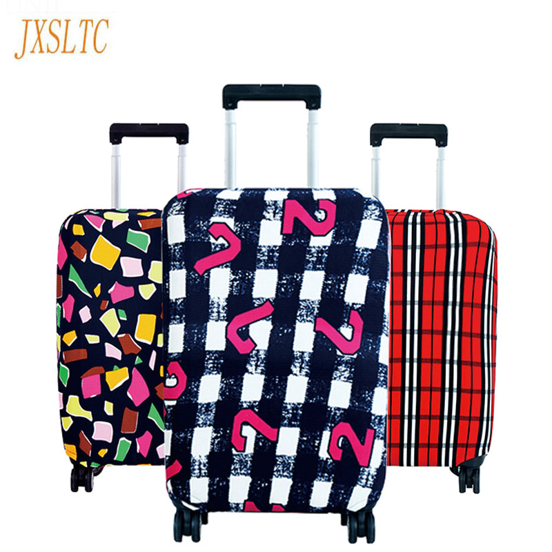 JXSLTC Fashion Hot Travel On The Road Luggage Cover Luggage Protective Covers Travel Trolley Dust Cover Suitcase Case Cover Sale