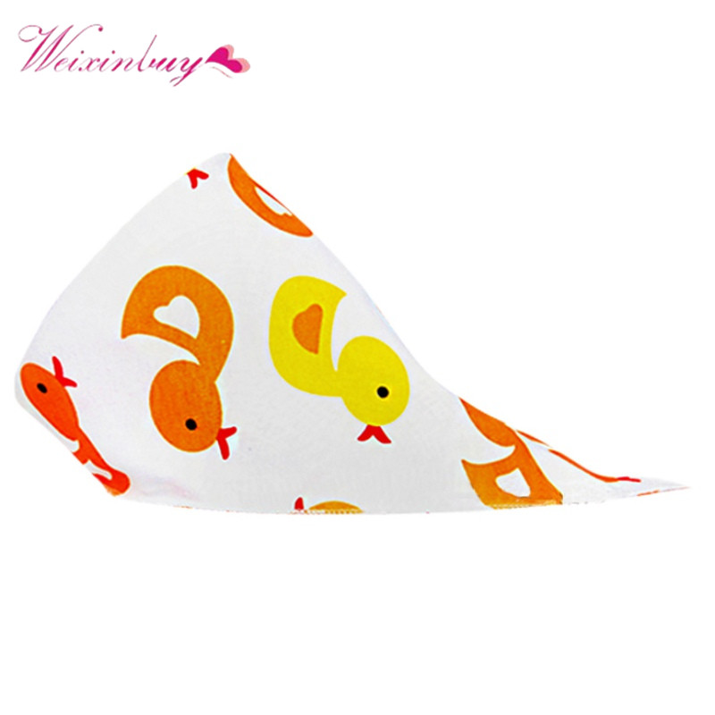 2017 Baby Accessories Bibs Newborn Wear Cartoon Head Scarf 6 Colors New Baby Cotton Bib Infant Saliva Towels printed flower