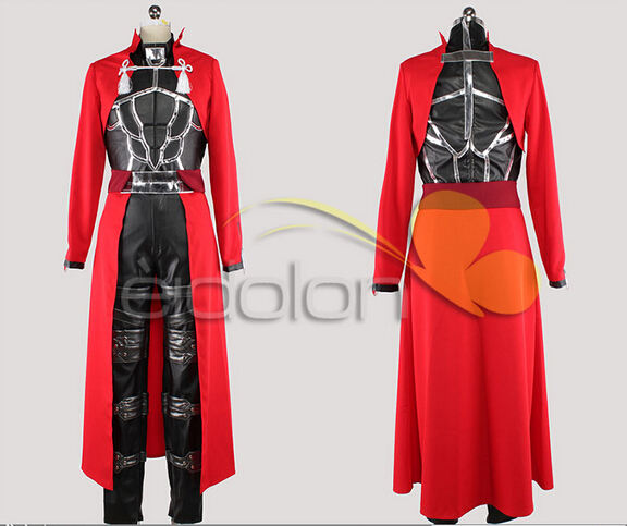 ?? ??? ??? ?? ???? ?? ?? ?? ?? ?? & Fate Stay Night Archer Cosplay Costume Red Coat Full Set -in Anime ...
