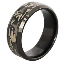 HOT Military Titanium Steel Rings For Men Vintage Three-color Camouflage Finger Ring Fashion Jewelry Gifts Size 6-13