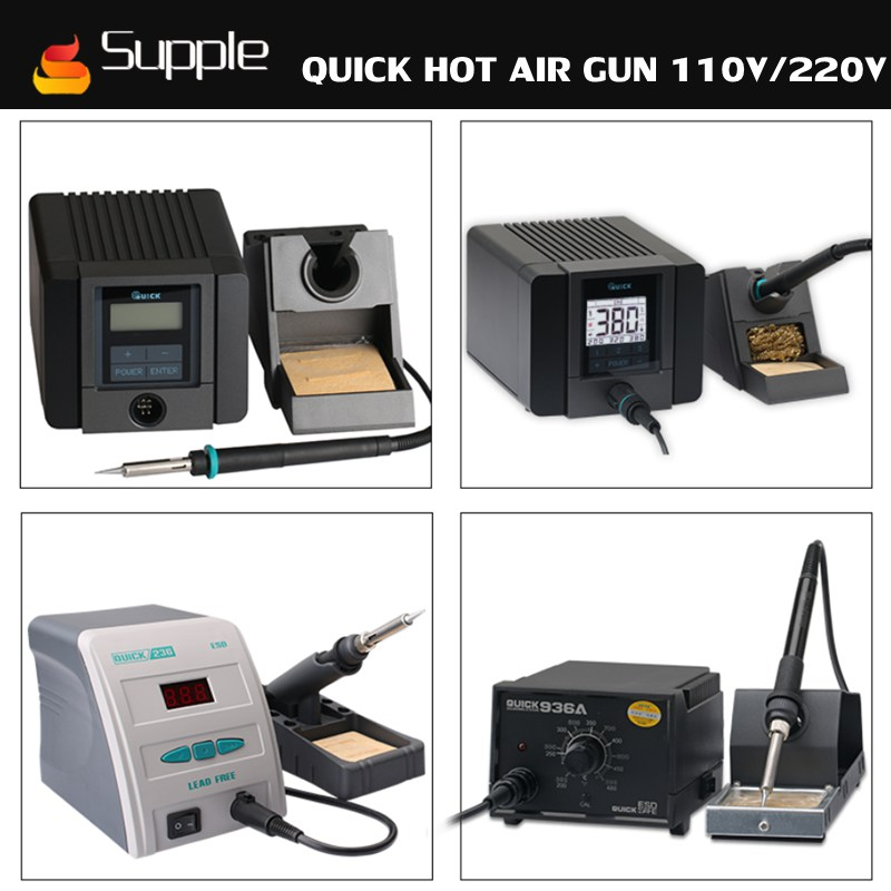 цена на Supple Mobile phone repair tool Quick 936 203H 1100 TS1200A electric iron soldering station lead-free intelligent hot air gun