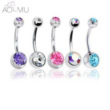 Belly-Button Rings Piercing Body-Jewelry Crystal Sex Real-Navel Surgical-Steel Ombligo