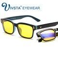 IVSTA Jogos Óculos De Computador Fadiga Ocular Alívio Óculos Homens Anti Glare Anti Blue Ray radiação UV400 quadro lentes amarelas 8084