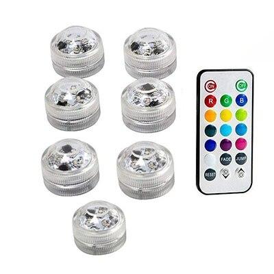 Подводные светодиодные лампы водонепроницаемый SMD3528 RGB подводный ночник Свадебный Чай Ваза-лампа чаша вечерние новогодние гирлянды - Испускаемый цвет: 7 Lamp 1 controller