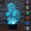 New Ninja Turtle LED Night Light Lamp with 7 Colours Change Party Christmas Decoration Colorful Lampe GX258 Free Shipping
