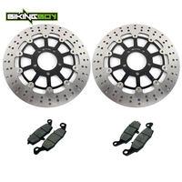 BIKINGBOY for Suzuki DL 650 V STROM 04 05 06 DL 1000 02 09 08 07 Kawasaki KLV 1000 2004 2005 Front Brake Discs Rotors Disks Pads