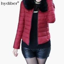 2018 Warm Winter Jacket Women Slim Detachable Fur Collar Coat Ladies Parka Outwear Casual Overcoat Z41