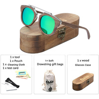 2019 Women's Wooden Sunglasses Vintage Luxury Brand Designer Polarized Sun Glasses oculos de sol feminina Green