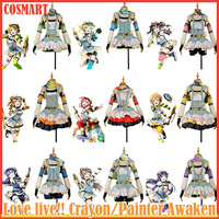 Collection!Anime Love Live Crayon/Painter Awaken All Members Summer Lolita Daily Cloth Cosplay Costume NEW 2018 free ship