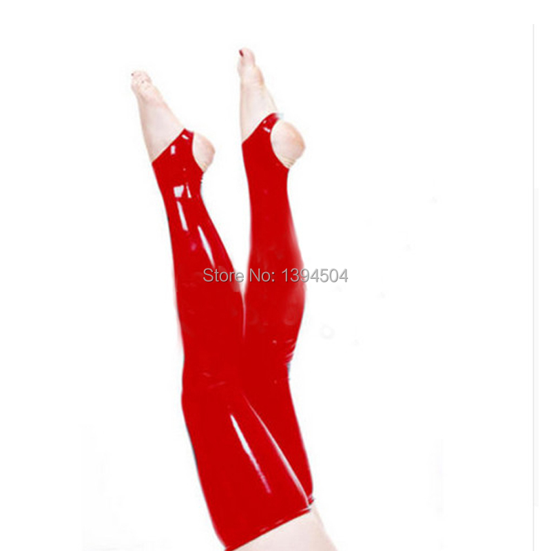 new exotic women female black red white handmade gothic Latex pure color slim cekc heel Long Stockings Thigh boots Socks in Teddies Bodysuits from Novelty Special Use