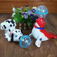 Electric interactive Baby Toys Infant electric dog Toy with Music & 3d Light Learning Toys for Children Xmas Gifts