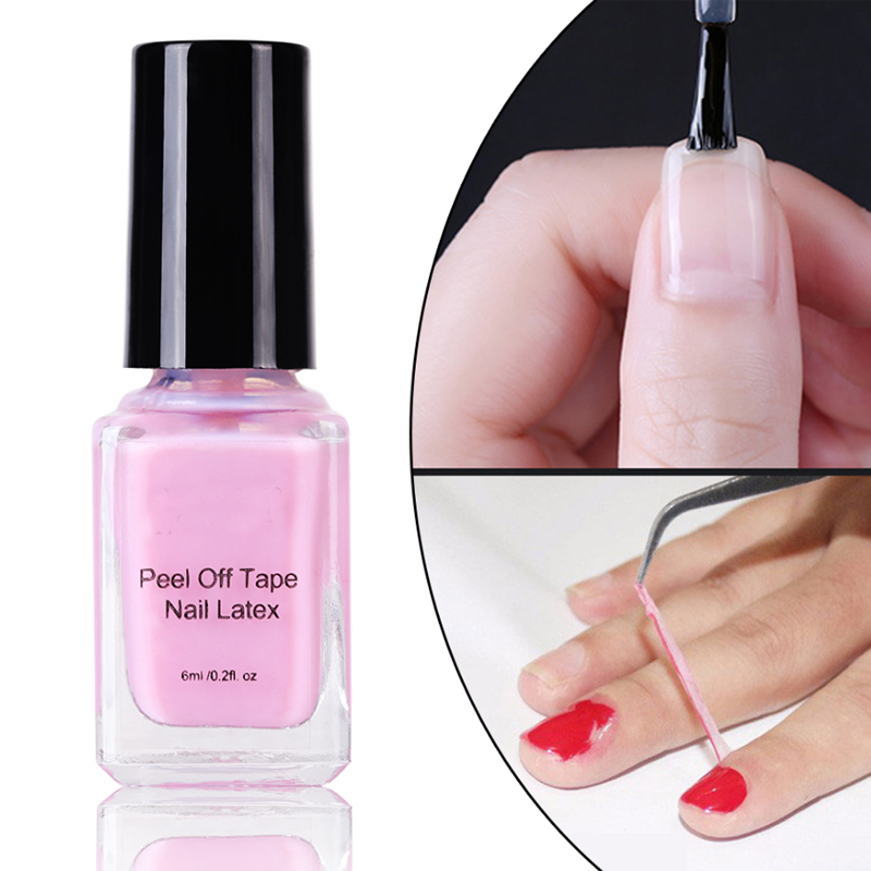 Us 1 98 Peel Off Liquid Tape From Nail Polish Protection Finger Skin Cream White Latex Protected Glue Easy Clean Tape Cream Nail Polish In Nail