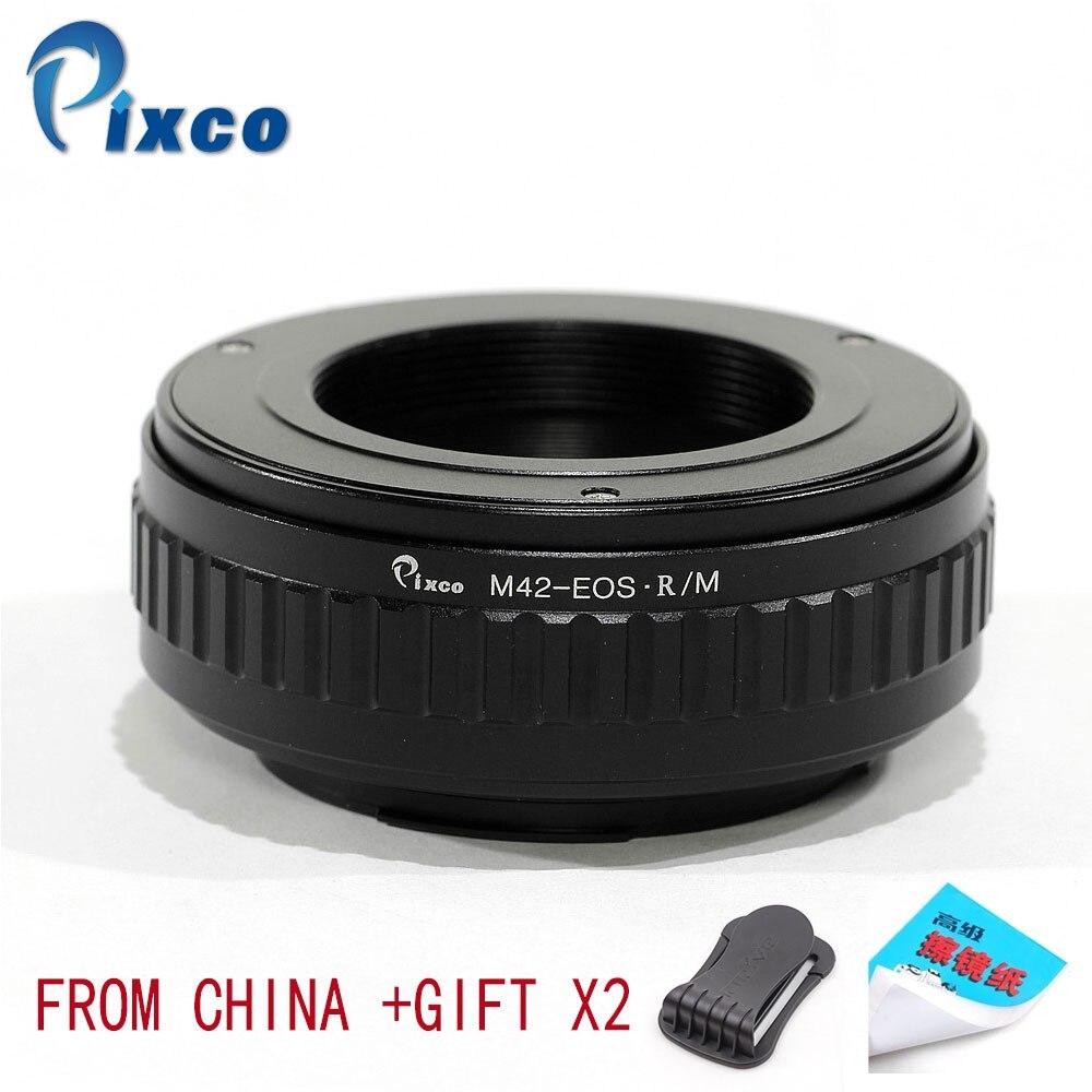 Pixco adaptateur d'objectif pour M42-EOS R/M réglable Macro à l'infini adaptateur d'objectif costume pour M42 montage sur appareil photo Canon EOS R