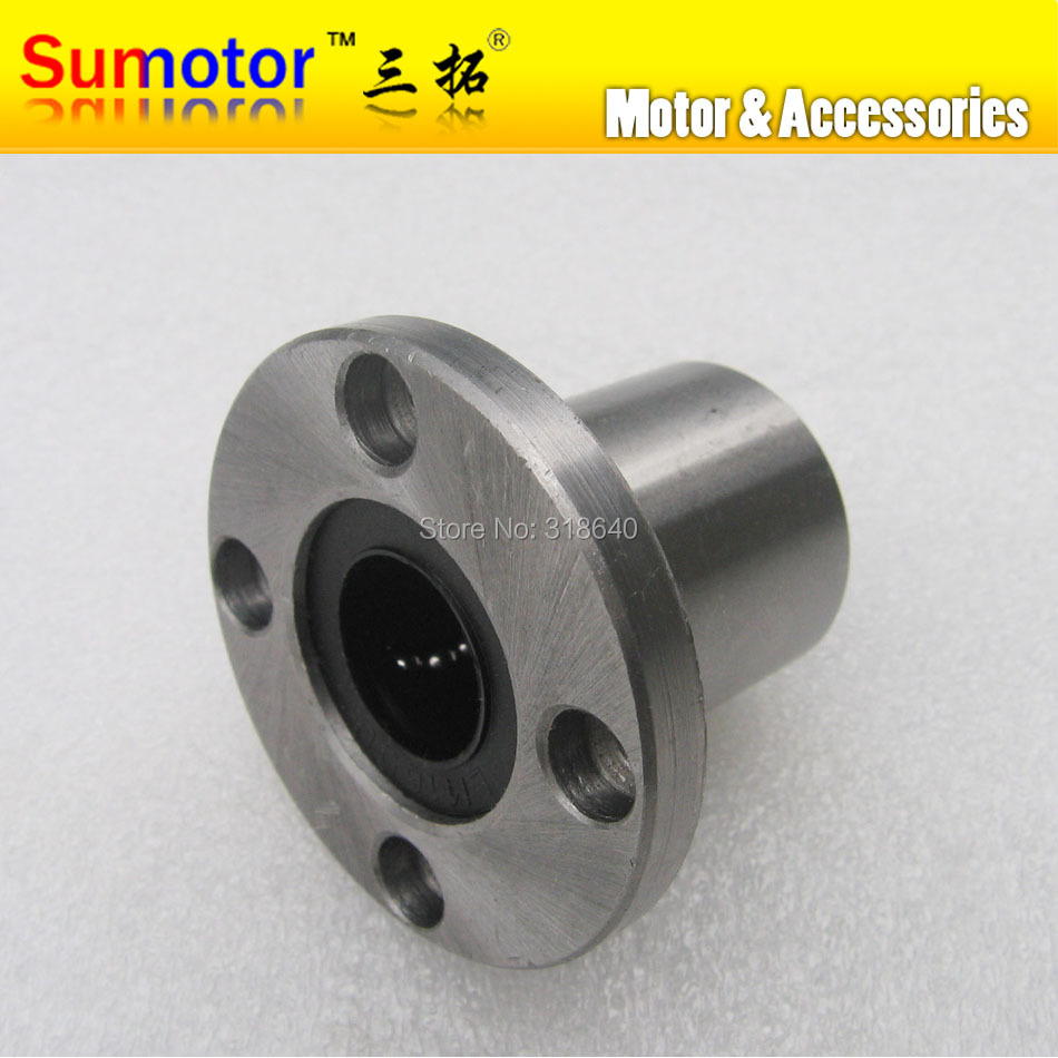 2Pcs LMF8UU 8mm Round Flange Linear Ball Bearing Bushing For 6 mm Linear Guide Rail Rod Round Shaft