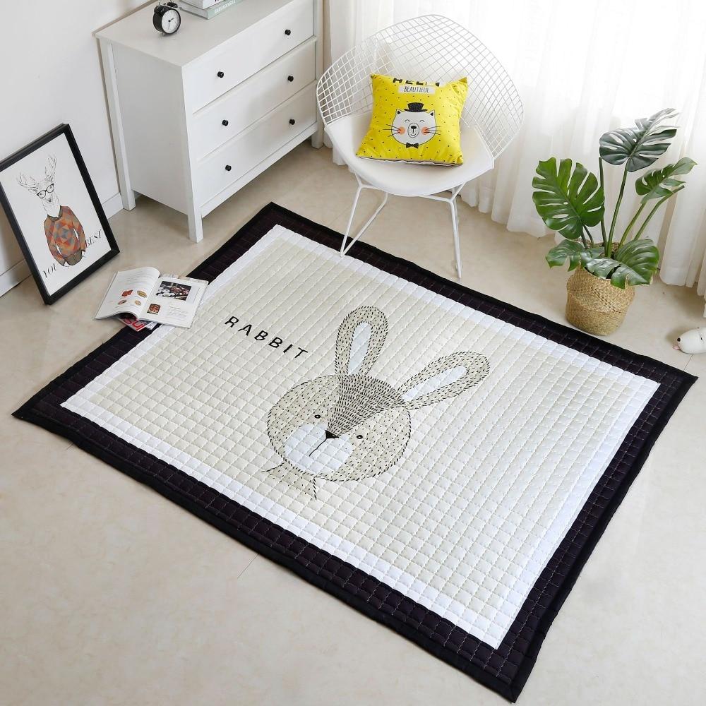 Motif Animal nordique bébé enfants infantile jouer tapis ramper tapis plancher Mar tapis chambre pépinière décor 1 pc tapis
