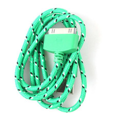 30 Pin USB Cable Breided Nylon Data Charging Cable For Iphone 4 4s 3GS iPad 2 3 Sync Charger Wire cord