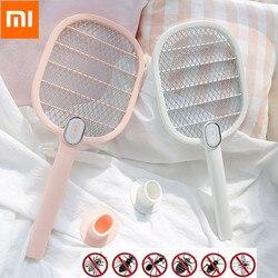 Xiaomi mijia elétrica mosquito swatter recarregável led elétrico inseto inseto voar mosquito dispeller assassino raquete de 3 camadas net