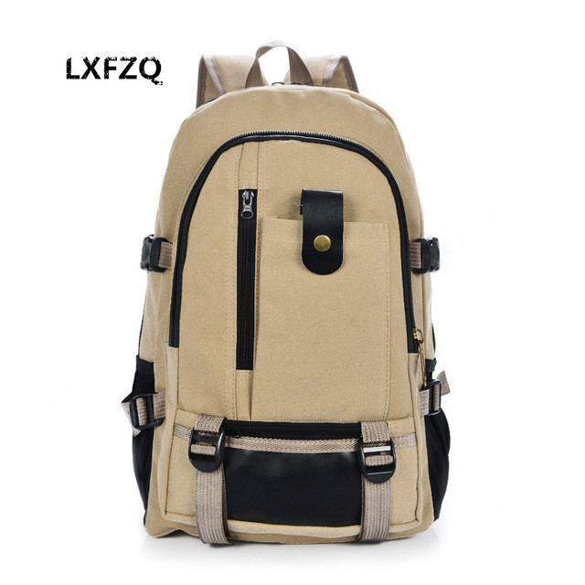 school bags for teenagers men s canvas backpack big capacity mountaineering Travel  backpack Middle school student couple bag a385de5582acf