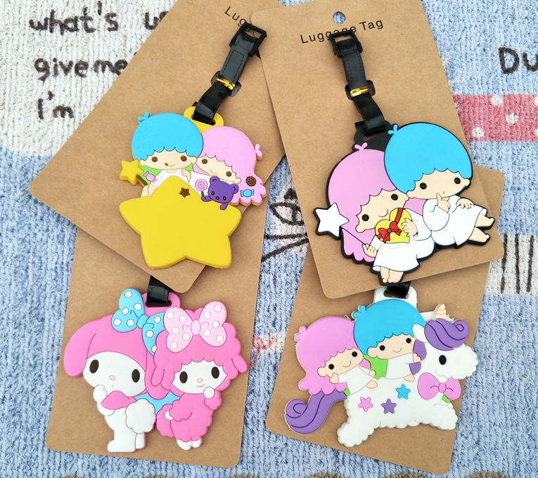 IVYYE Little Twin Star Anime Travel Accessories Luggage Tag Suitcase ID Address Portable Tags Holder Baggage Label New