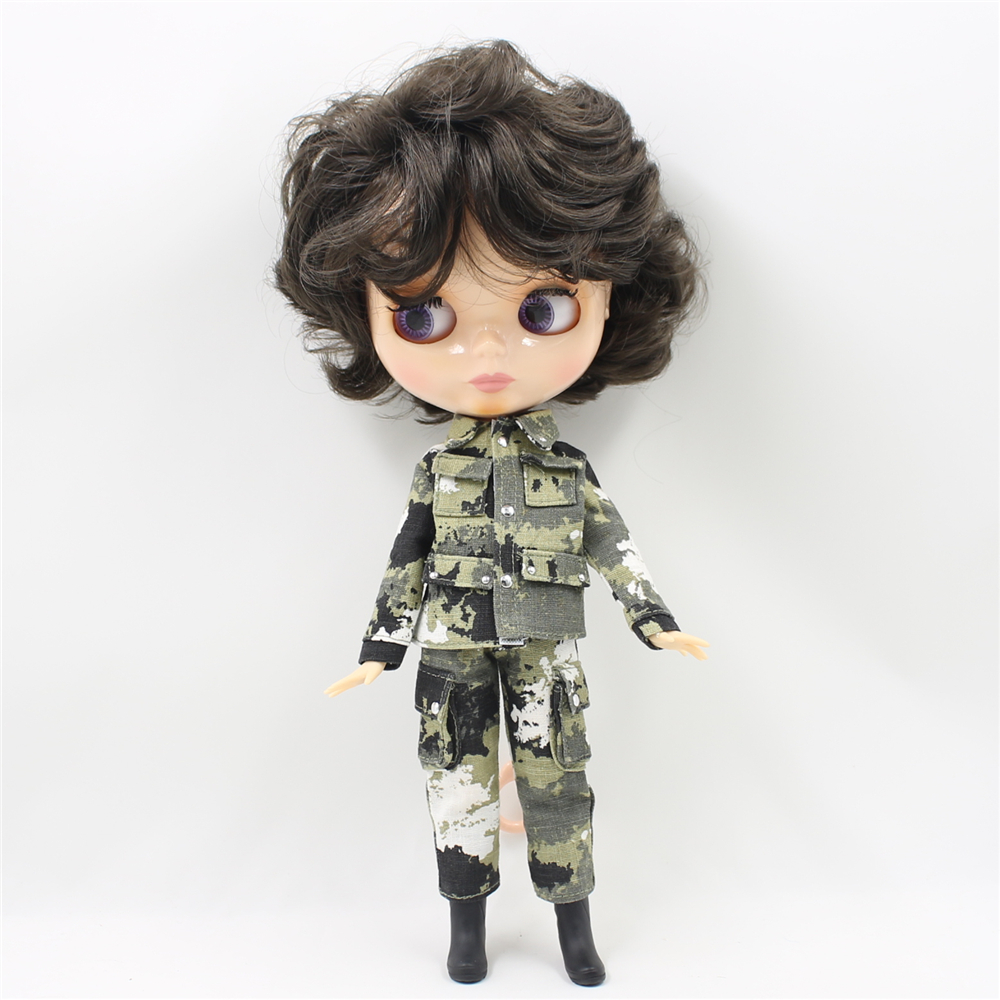 nude Blyth doll with Joint body 30cm fashion black short hair doll DIY makeup 1/6 bjd blyth dolls for girls blyth nude doll joint body with long wavy white hair 4 colors big eyes 1 6 bjd blyth dolls suitable diy makeup toys