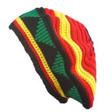 Novelty Creative Women Men Braid Hat Winter Warm Jamaican Slouchy Beanie  Festival Cap Unisex Autumn Knitted Reggae Hip Hop Hats 4bb72865a4d