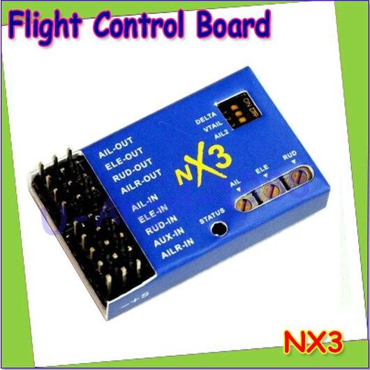 Wholesale 1pcs NX3 3D Flight Fixed-Wing Flight Gyro Balancer Control Board Drop shipping wholesale eagle a3 super ii flight controll gyro 3d avcs for fixed fpv half set