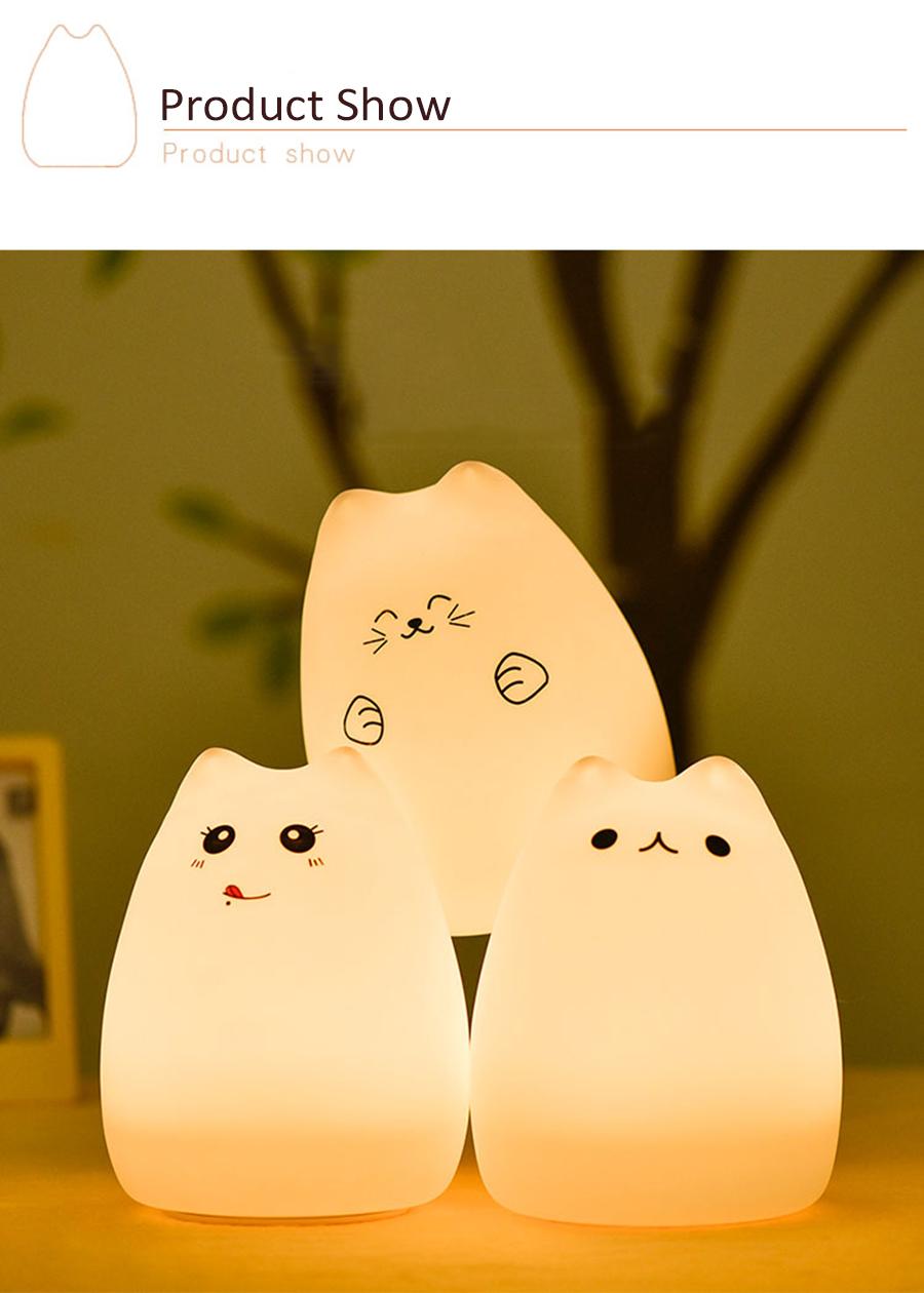 HTB1S49CSpXXXXcLXXXXq6xXFXXXg - Lampka Silikonowa Kitty LED