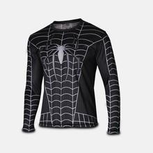 A new miracle in 2014 black spider-man superhero flag T-shirt shirt men clothes