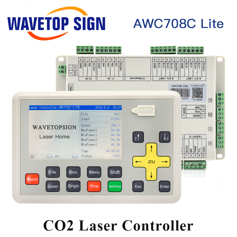 WaveTopSign Trocen Anywells AWC708C Lite C02 Laser Controller System For Laser Engraving and Cutting Machine Replace