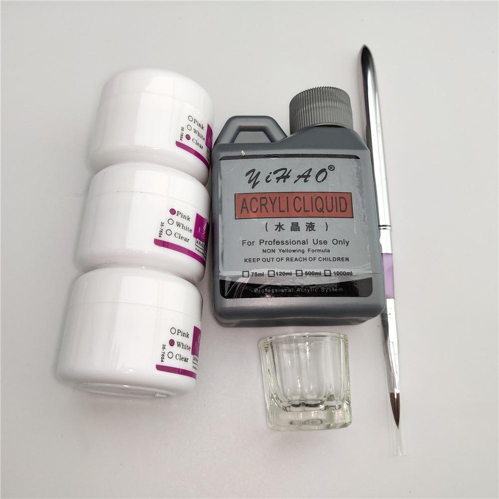 Simply Nail Art Kits Acrylic Liquid Powder Stainless Steel Pen Dappen Dish Tools Set You Can Create Beautiful Nail Design