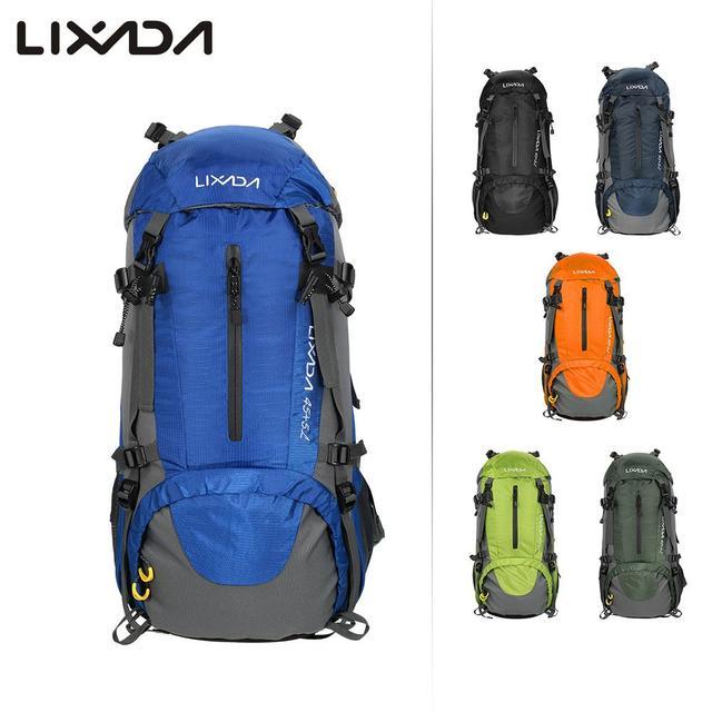 Lixada 50L Bicycle Sports Backpacks Bag Large Waterproof Travel Bags  Rucksack Men Nylon Outdoor Camping Hiking 96496610061c4