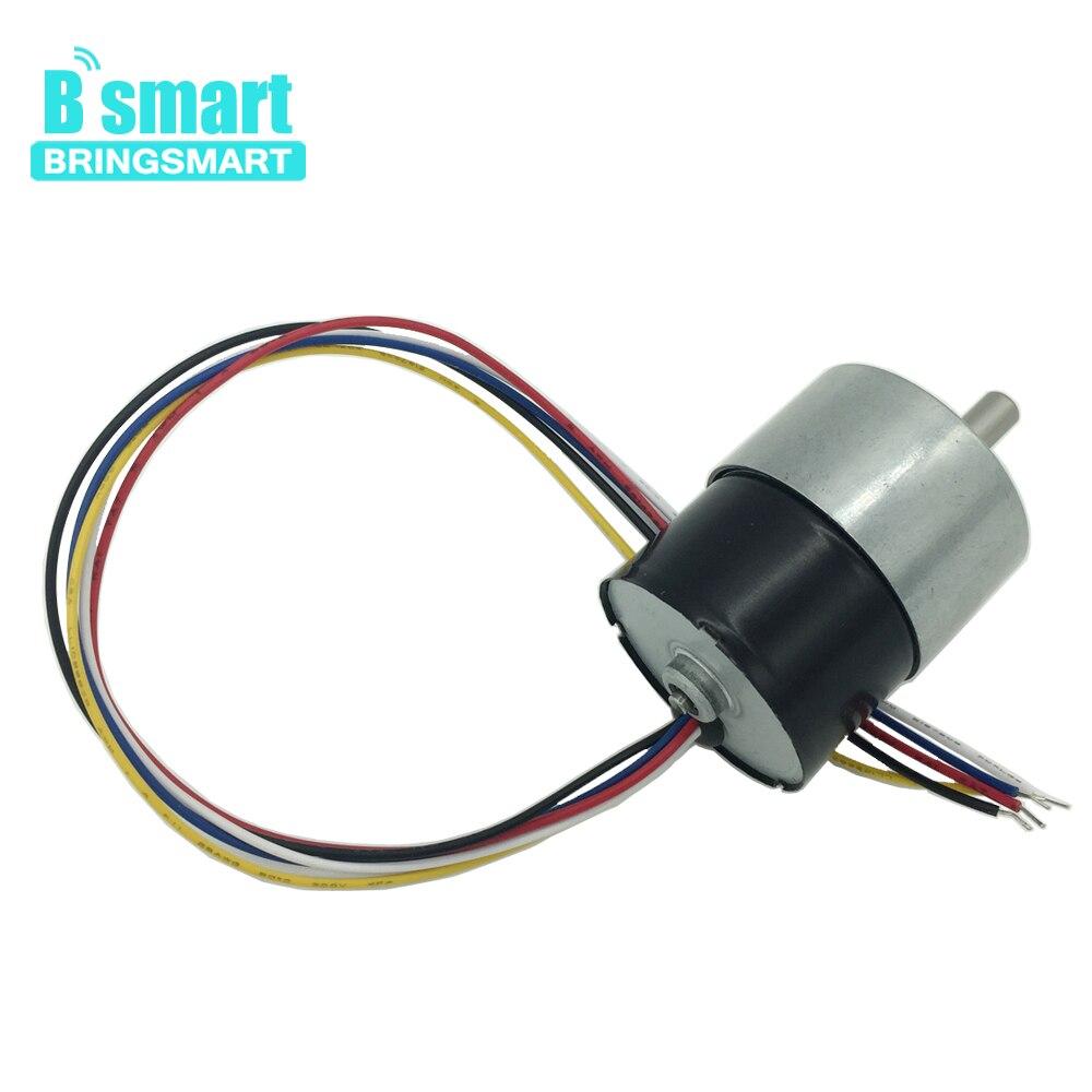 Bringsmart JGB37-3625 Brushless DC Gear Motor 12V 24V Electric MotorSpeed Controller Reversed Mini Gearbox FG Signal Feedback цена