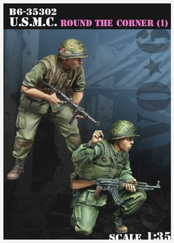 1/35 around the corner vietnam characters soldier toy Resin Model Miniature Kit unassembly Unpainted image