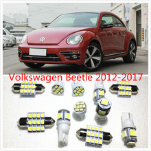 11 set White LED Lights Interior Package T10 & 31mm Map Dome For Volkswagen Beetle 2012-2017