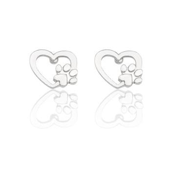 Dog Heart Paw Earrings  1