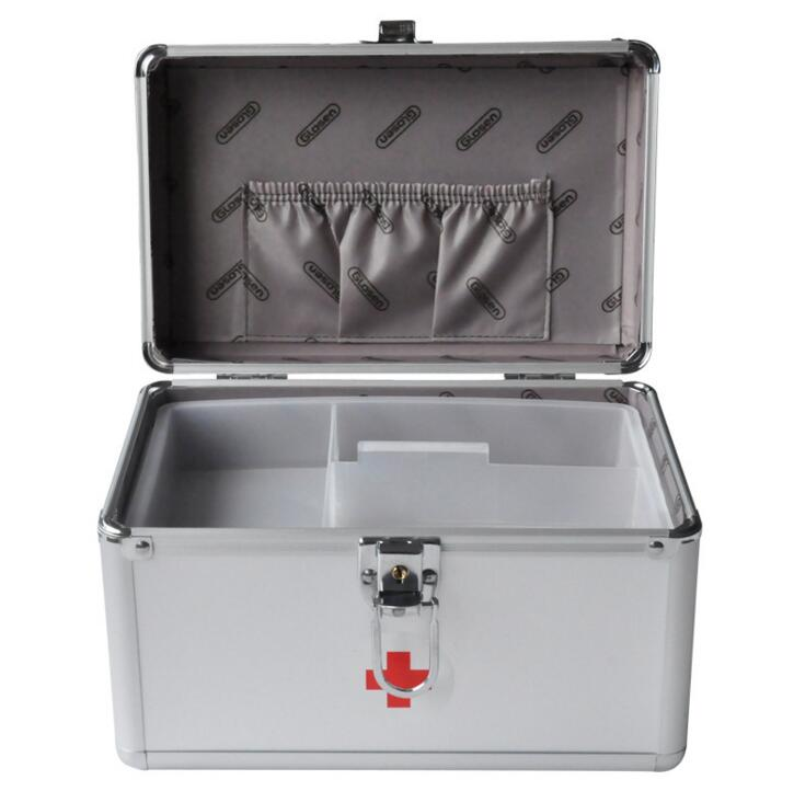 HZJ20----The 9 inch B016-5 Aluminum Alloy safety box household medical home box first aid box