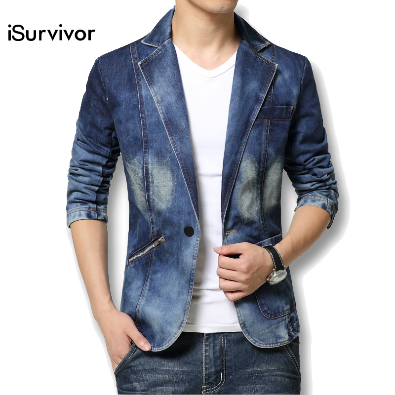 2016 Men Denim Jacket Men Autumn Spring Outdoors Casual Jackets Homme Jeans Jacket Men Plus Size
