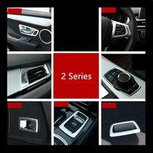 Хром ABS двери автомобиля аудио Динамик круг Накладка для BMW 2 серии Active Tourer 218i 220i P File рамка украшения