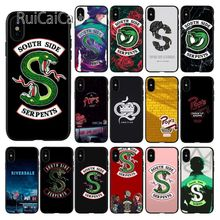 Ruicaica American TV Riverdale Painted LOGO TPU Soft Silicone Black Phone Case for iPhone 5 5Sx 6 7 7plus 8 8Plus X XS MAX XR