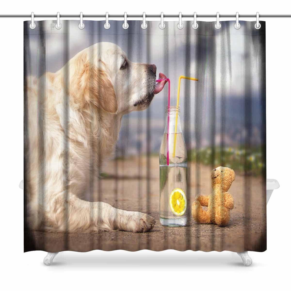 Labrador Retriever Puppy Shower Curtain Hooks Bathroom