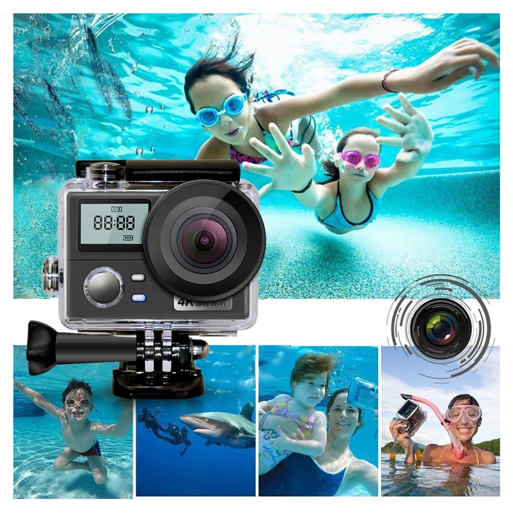 Ultra HD 4K WiFi Action Camera New Dual Screen Outdoor Extreme Sports <font><b>Kamera</b></font> with Remote Control Go Waterproof pro Helmet Camera image