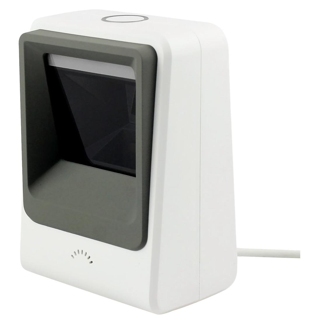 Проводной Hands-free 1D 2D USB CCD сканер штрих-кода для мобильных платежей компьютер Экран сканирования, белый