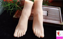 Sexy Girl's Silicone Feet Sex Toy Foot Fetish Toys Porn Real Skin Sex Dolls Realistic Silicone Solid Foot For Men