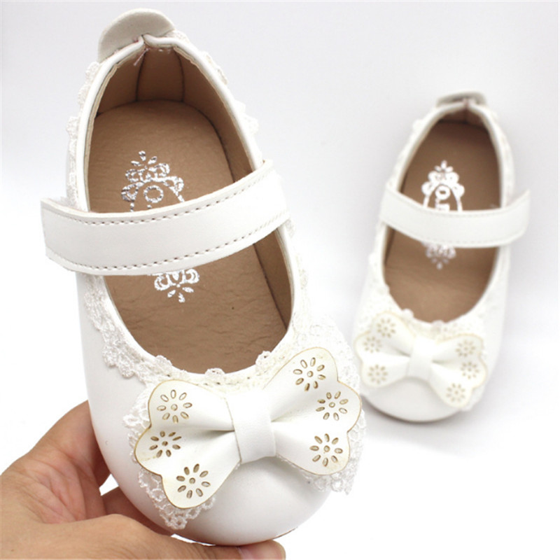 Xinfstreet Soft Baby Girls Shoes Leather Infant Shoes Cute Toddler Child Kids Shoes Bowknot Princess For Girls Size 15-25
