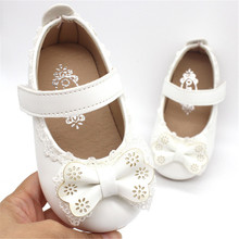 Xinfstreet Soft Baby Girls Shoes Leather Infant Cute Toddler Child Kids Bowknot Princess For Size 15-25